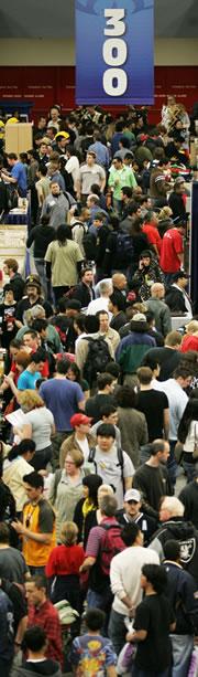 Exhibit floor at WonderCon